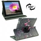 For iPad 4/3/2 360 Degree Rotation Hearts Pattern Flip Leather Case with Holder