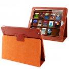 For iPad 4/3/2 Orange Litchi Texture Folding Leather with Sleep / Wake-up & Holder Function