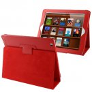 For iPad 4/3/2 Red Litchi Texture Folding Leather with Sleep / Wake-up & Holder Function