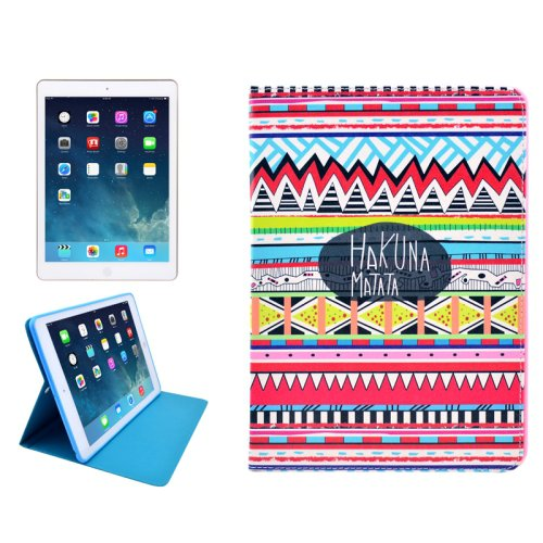 For iPad 4/3/2 HAKUNA Pattern Smart Cover PU Leather Case with Holder
