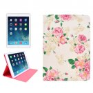 For iPad 4/3/2 Flowers Pattern Smart Cover PU Leather Case with Holder