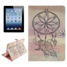 For iPad 4/3/2 Dreamcatcher Pattern Leather Case with Holder, Card Slots & Wallet