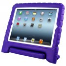 For iPad 4/3/2 Purple EVA Material Drop Resistance Protective Case with Holder