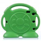 For iPad 4/3/2 Green Anpanman Pattern EVA Bumper Portable Protective Case with Handle & Holder