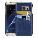 For Samsung Galaxy S7 Edge Dark blue Oil Wax Texture Leather Back Cover Case with Card Slots