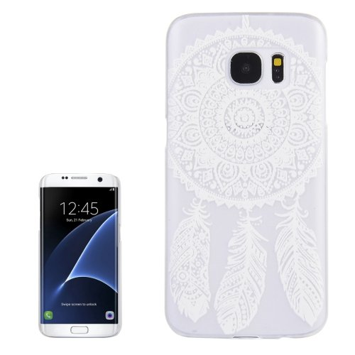 For Galaxy S7 Edge Windbell Pattern Transparent Frame PC Protective Case