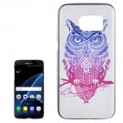 For Galaxy S7 Edge Owl Pattern PC Protective Case