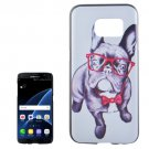 For Galaxy S7 Edge Bulldog Pattern PC Protective Case