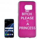 For Galaxy S7 Edge I am a Princess Pattern PC Protective Case