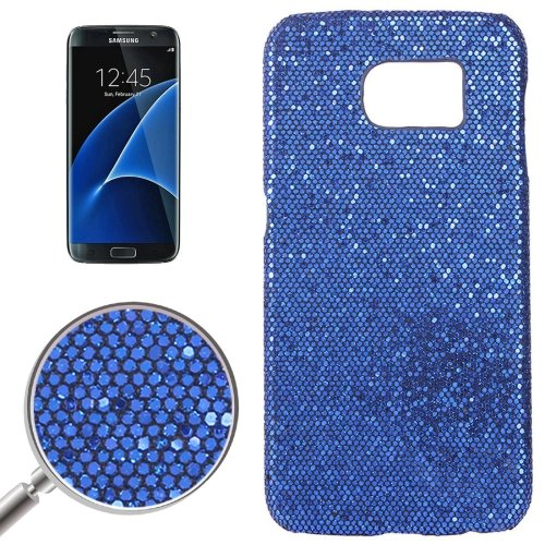 For Galaxy S7 Edge Dark Blue Fashionable Flash Powder Back Cover Case