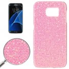 For Galaxy S7 Edge Pink Fashionable Flash Powder Back Cover Case