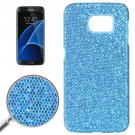 For Galaxy S7 Edge Blue Fashionable Flash Powder Back Cover Case