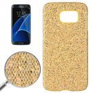 For Galaxy S7 Edge Yellow Fashionable Flash Powder Back Cover Case