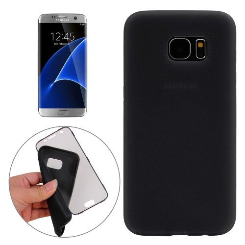 For Galaxy S7 Edge Black PC Front Cover + TPU Back Cover Protective Case