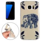 For Galaxy S7 Edge Elephant Pattern TPU Protective Case