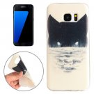 For Galaxy S7 Edge Abstract Wolf Head Pattern TPU Protective Case