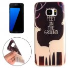 For Galaxy S7 Edge Sika Deer Words Pattern TPU Protective Case