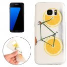 For Galaxy S7 Edge Lemon Pattern TPU Protective Case