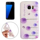 For Galaxy S7 Edge Dandelion Pattern TPU Protective Case