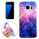 For Galaxy S7 Edge Trees and Clouds Pattern TPU Protective Case