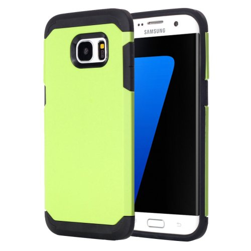 For Galaxy S7 Edge Light Green TPU + PC Armor Combination Case