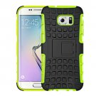 For Galaxy S7 Edge Green Tire Texture Combination Case with Separable Black Holder