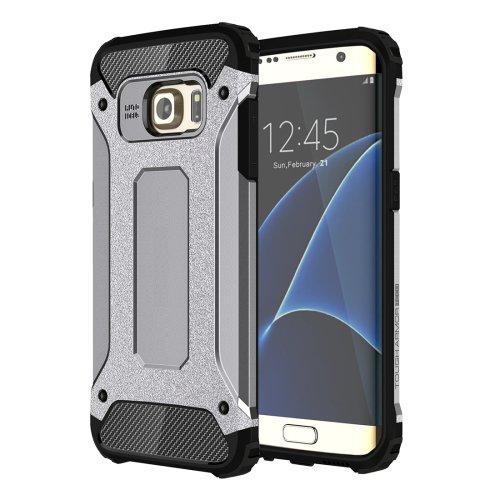 For Galaxy S7 Edge Grey Tough Armor TPU + PC Combination Case