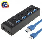 4 Ports USB 3.0 HUB, Super Speed 5Gbps, Plug and Play, Support 1TB