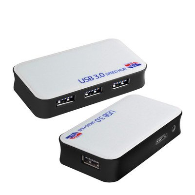 Black 4 Ports USB 3.0 HUB, SuperSpeed 5Gbps, Plug and Play