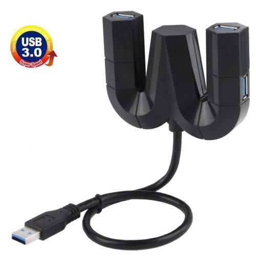 5Gbps Super Speed 4 Ports USB 3.0 HUB, Black (303)