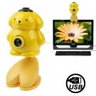 USB 2.0 Cartoon Yellow Bear Style 0.48 Mega Pixels Driverless PC Camera / Webcam