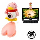 USB 2.0 Cartoon Penguins Style 0.48 Mega Pixels Driverless PC Camera / Webcam