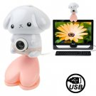 USB 2.0 Cartoon Cat Style 0.48 Mega Pixels Driverless PC Camera / Webcam