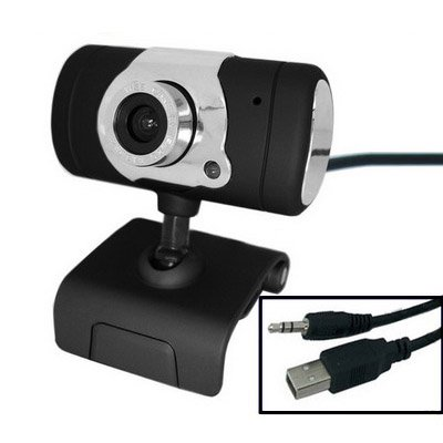 USB 16.0 Mega Pixels Driverless PC Camera with Mic and 360 degree rotated
