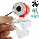 5.0 Mega Pixels USB 2.0 Driverless PC Camera / Webcam with Clip, Support 360 Degree Rotation
