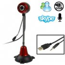 5.0 Mega Pixels USB 2.0 Driverless PC Camera / Webcam with MIC and 4 LED Lights