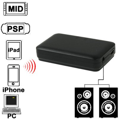 Mini Bluetooth Music Receiver for iPhone 4 & 4S / 3GS / 3G / iPad 3 / iPad 2...