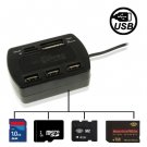 High Speed 3 Ports USB 2.0 HUB & All in one Card Reader