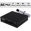 XD /SD /MMC /T-Flash /MS PRO Duo /CF /M2 Memory Card, USB 2.0 Embedded Card Reader