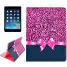 For iPad Air 2 / iPad 6 Leopard Pattern Smart Cover Leather Case with Holder & Card Slots