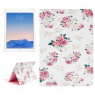 For iPad Air 2/iPad 6 Floral Pattern Leather Case with Holder & Card Slots & Wallet