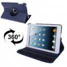 For iPad Mini 1/2/3 Dark Blue 360° Rotatable Litchi Texture Leather Case with Holder