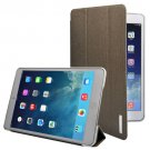 For iPad Mini 1/2/3 Deep green 3-fold Oracle Leather Case with Sleep/Wake-up Function & Holder