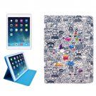 For iPad Mini 1/2/3 Cartoon Pattern Protective PU Smart Cover Leather Case with Card Slot