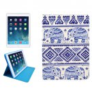 For iPad Mini 1/2/3 Elephants Pattern Protective PU Smart Cover Leather Case with Card Slot