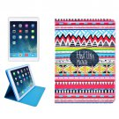 For iPad Mini 1/2/3 HAKUNA Pattern Protective PU Smart Cover Leather Case with Card Slot