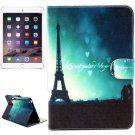 For iPad Mini 1/2/3 Eiffel Tower Pattern Flip Leather Case with Holder, Card Slots & Wallet