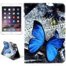 For iPad Mini 1/2/3 Butterfly Pattern Flip Leather Case with Holder, Card Slots & Wallet