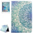For iPad Mini 4 Flower Drawing Pattern Flip PC + PU Leather Case with Holder & Card Slots
