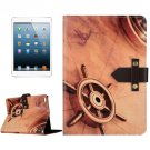 For iPad Mini 4 Retro Rudder Leather Case with Holder & Genuine Leather Belt Fastener